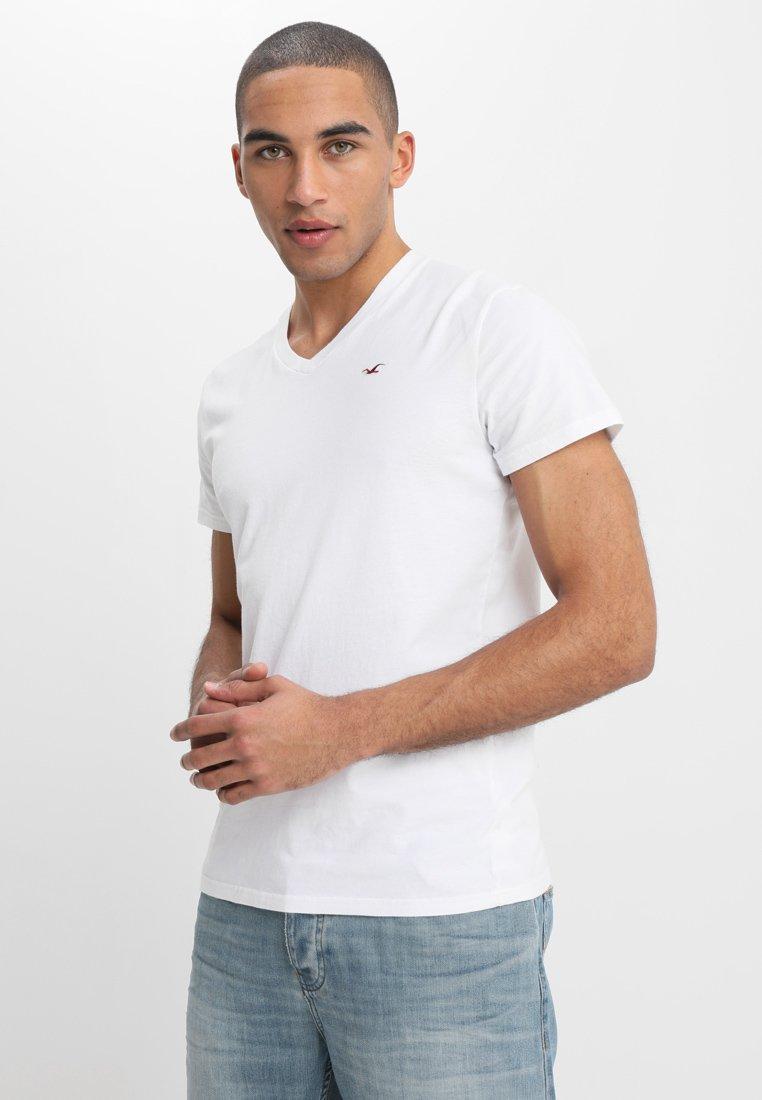 Hollister Co. 3 Pack - T-shirts White/svart
