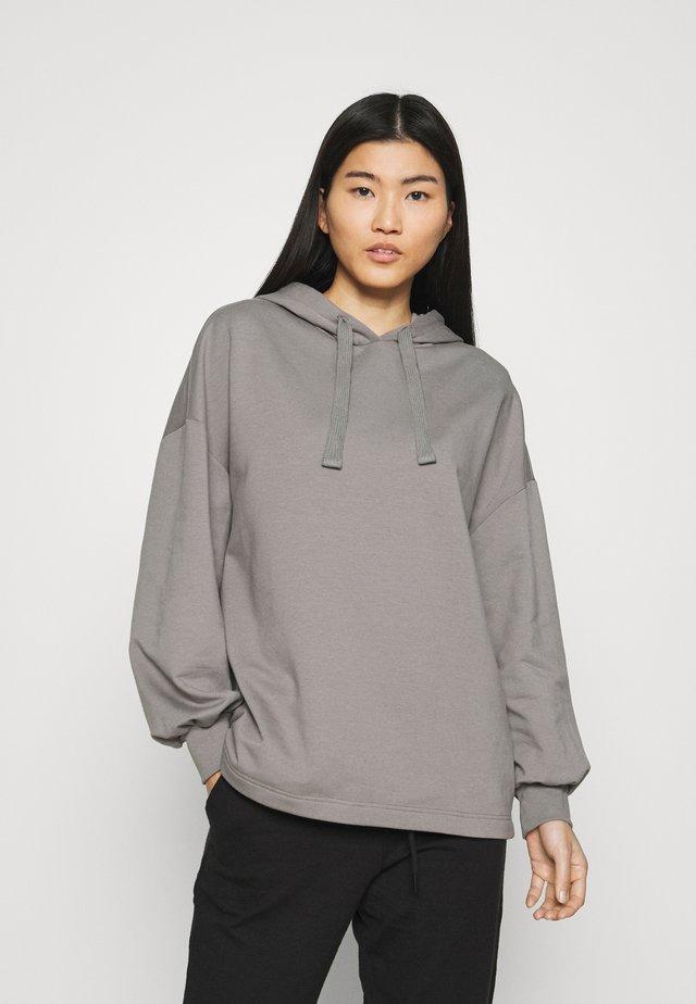 OVERSIZED BALLOON SLEEVE HOODIE - Bluza z kapturem - grey