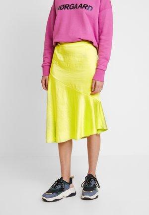 PUK SKIRT - A-line skirt - neon yellow
