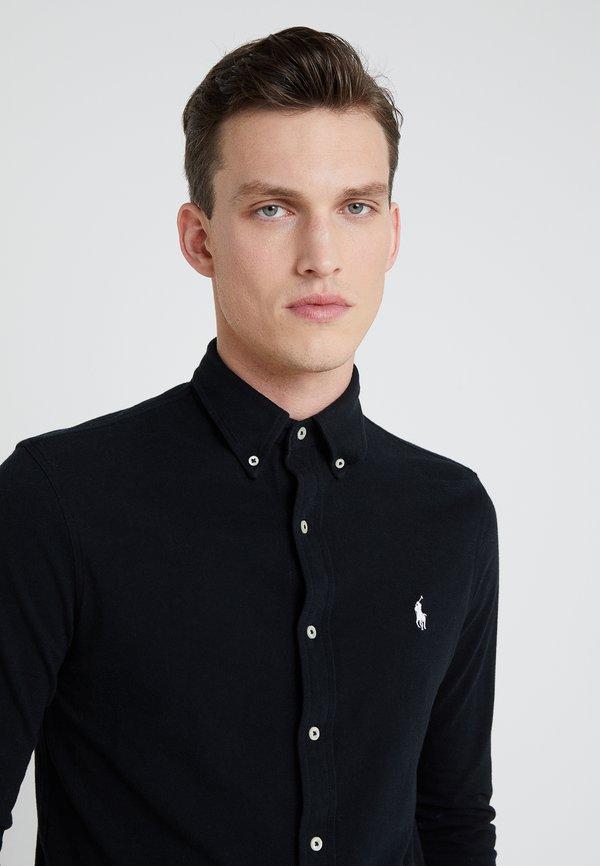 Polo Ralph Lauren LONG SLEEVE - Koszula - black/czarny Odzież Męska AQWP