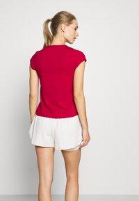 Nike Performance - DRY - Basic T-shirt - gym red/white - 2