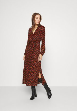 ISABELLA ISA DRESS - Kjole - black/rust