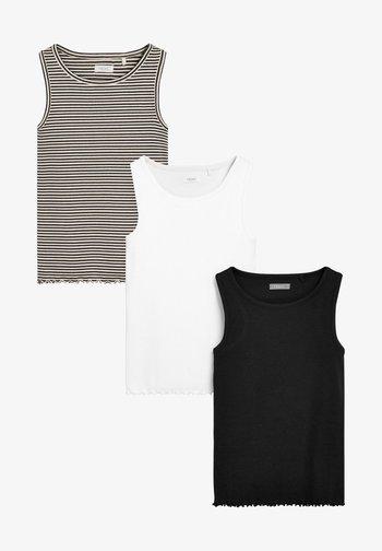 3 PACK - Top - black white