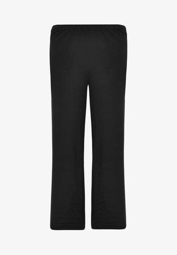 MIT EINEM ELASTISCHEN BUND - Trousers - black