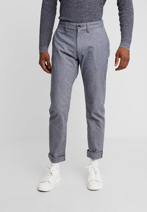 WASHED STRUCTURE - Trousers - navy blue