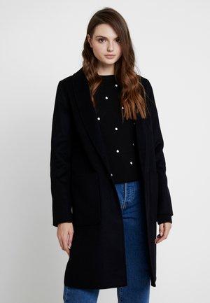 DOUBLE FACE REVERSIBLE SHAWL COLLAR - Zimní kabát - black