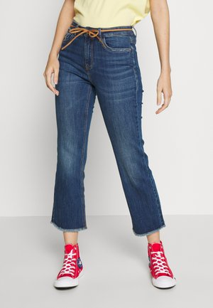 ONLKENYA MID SWEET  - Flared jeans - dark blue denim