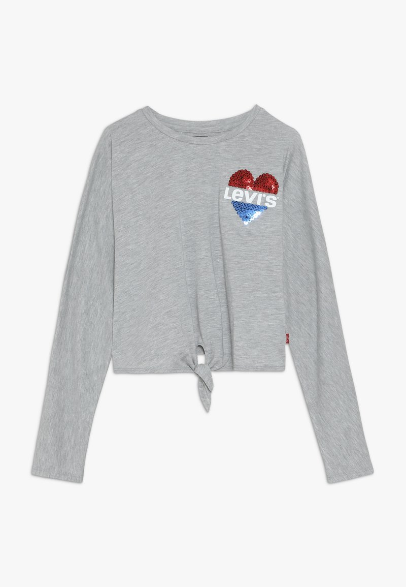 Levi's® - DOLMAN TIE FRONT - Long sleeved top - grey heather