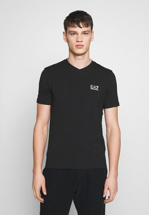 V NECK - T-shirts print - black