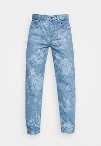 Jaded London - LASER ETCHED FLORAL SKATE - Straight leg jeans - blue - 4