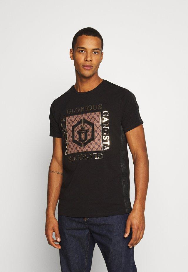 DASLI - T-shirt imprimé - black