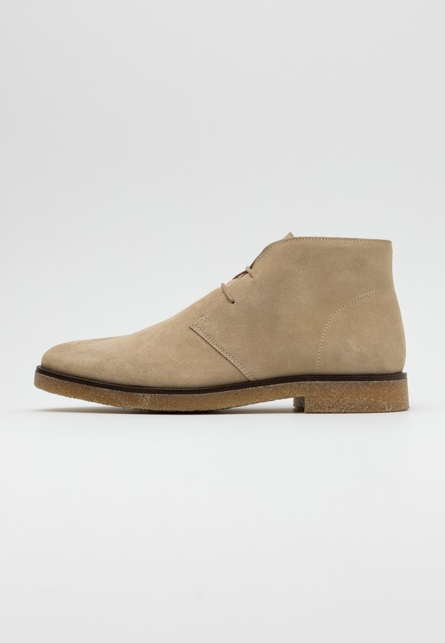 BIADINO LACED UP BOOT - Nauhakengät - beige