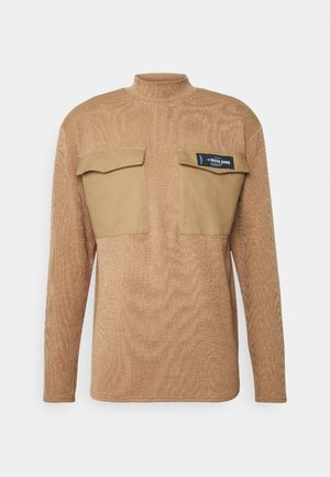 HIGH NECK LONG SLEEVES - Jumper - beig