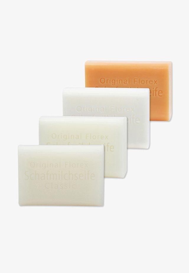 SCHAFMILCHSEIFEN CLASSIC MAIGLÖCKCHEN SCHNEEROSE QUITTE + LUFFA  - Soap bar - -