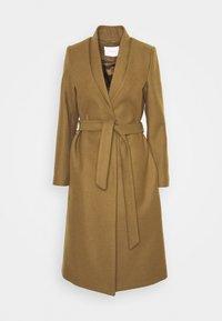 DOUBLE COLLAR COAT - Klasický kabát - beech