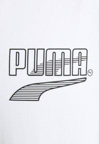 Puma - COLOUR BLOCK TEE - Printtipaita - white - 2