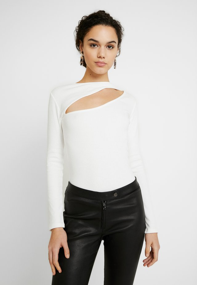 CUT OUT - Long sleeved top - white