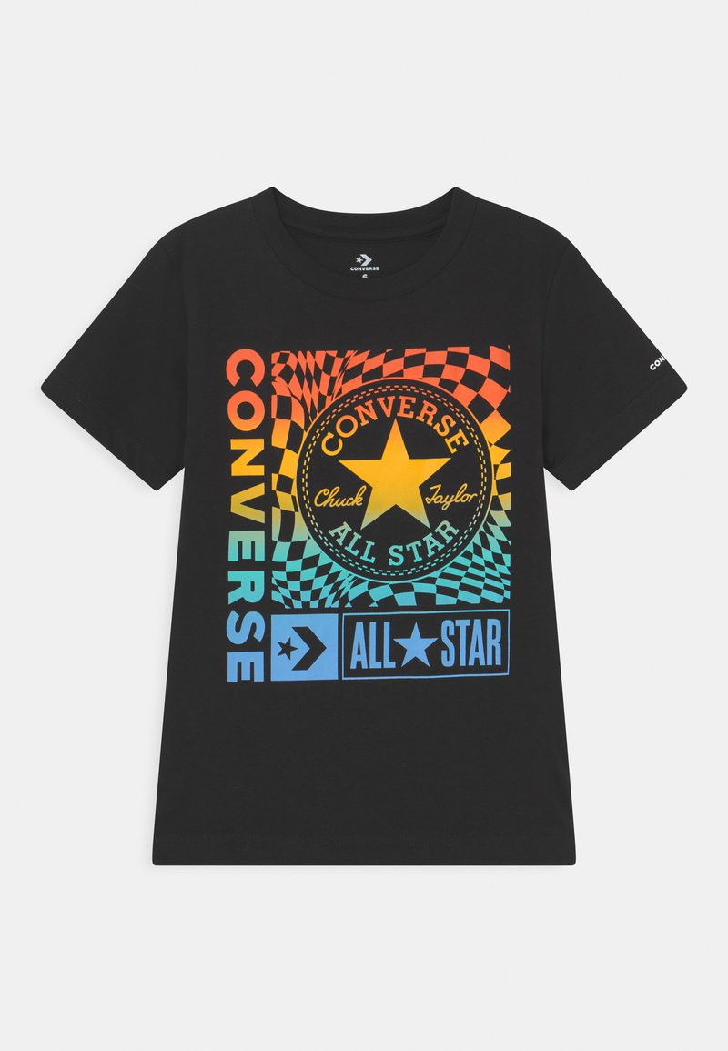 Converse - CHUCK PATCH BOXES TEE - T-shirt con stampa - black