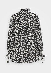 TIE CUFF  - Shirt dress - black