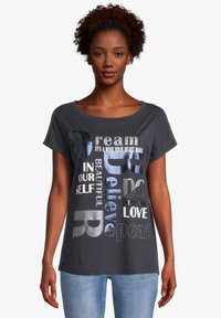 Cartoon - Print T-shirt - dunkelblau/grau - 0
