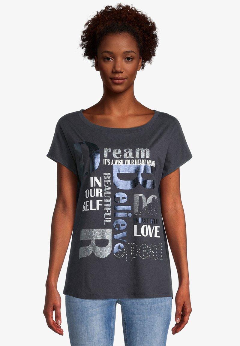 Cartoon - Print T-shirt - dunkelblau/grau
