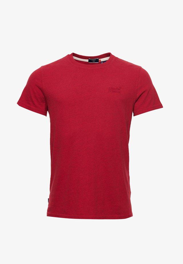 OL VINTAGE EMB  - T-shirt basic - shock fire red grit