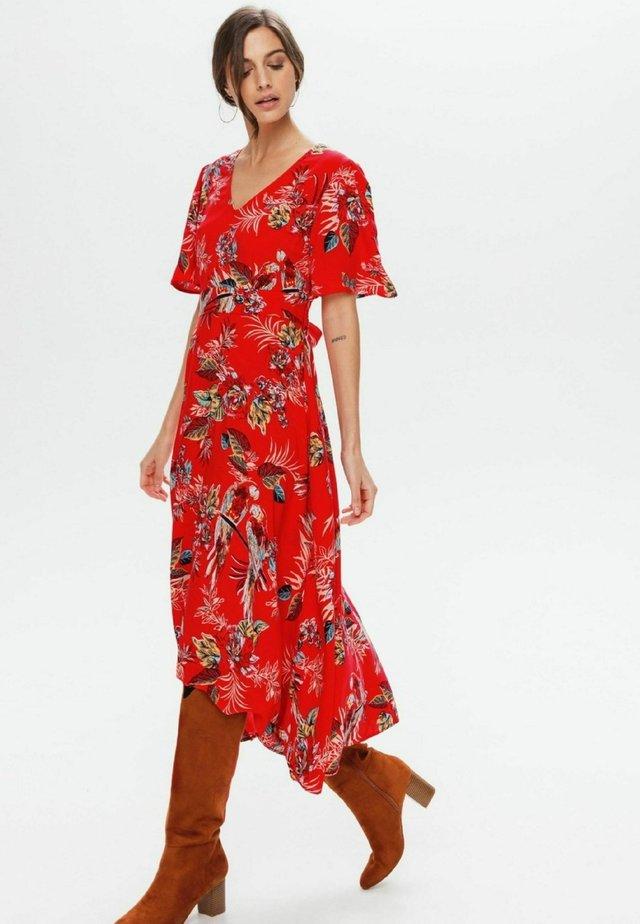 Robe longue - imprimé rouge