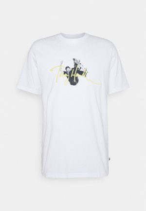 GUNTHER UNISEX - T-shirt print - white