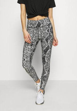 BOLD SNAKE PRINT HIGH RISE - Leggings - black