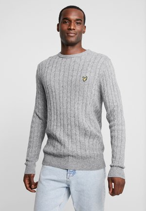 CABLE JUMPER - Pullover - mid grey marl