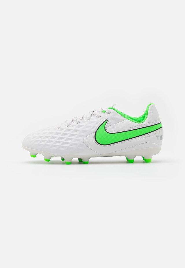 TIEMPO JR LEGEND 8 CLUB FG/MG UNISEX - Voetbalschoenen met kunststof noppen - platinum tint/rage green