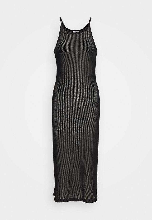 VENETIAN TANK DRESS - Abito in maglia - black