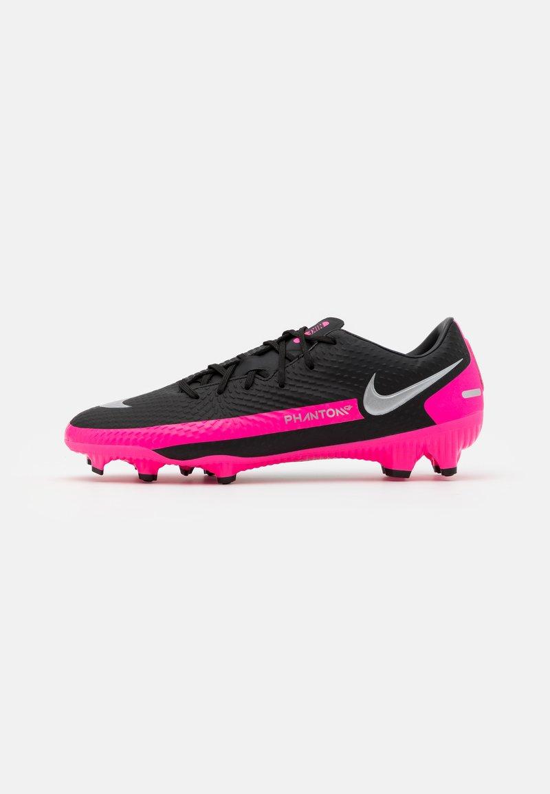 Nike Performance - PHANTOM GT ACADEMY FG/MG - Moulded stud football boots - black/metallic silver/pink blast