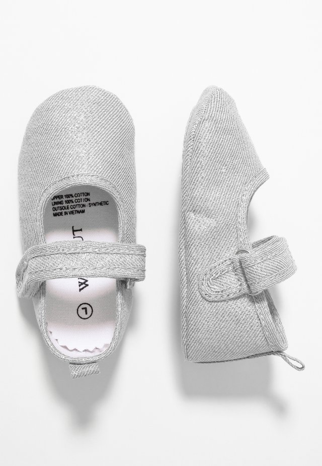 MINI  - First shoes - metallic silver