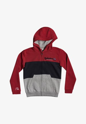 TROPICAL BLOCK - Zip-up hoodie - american red