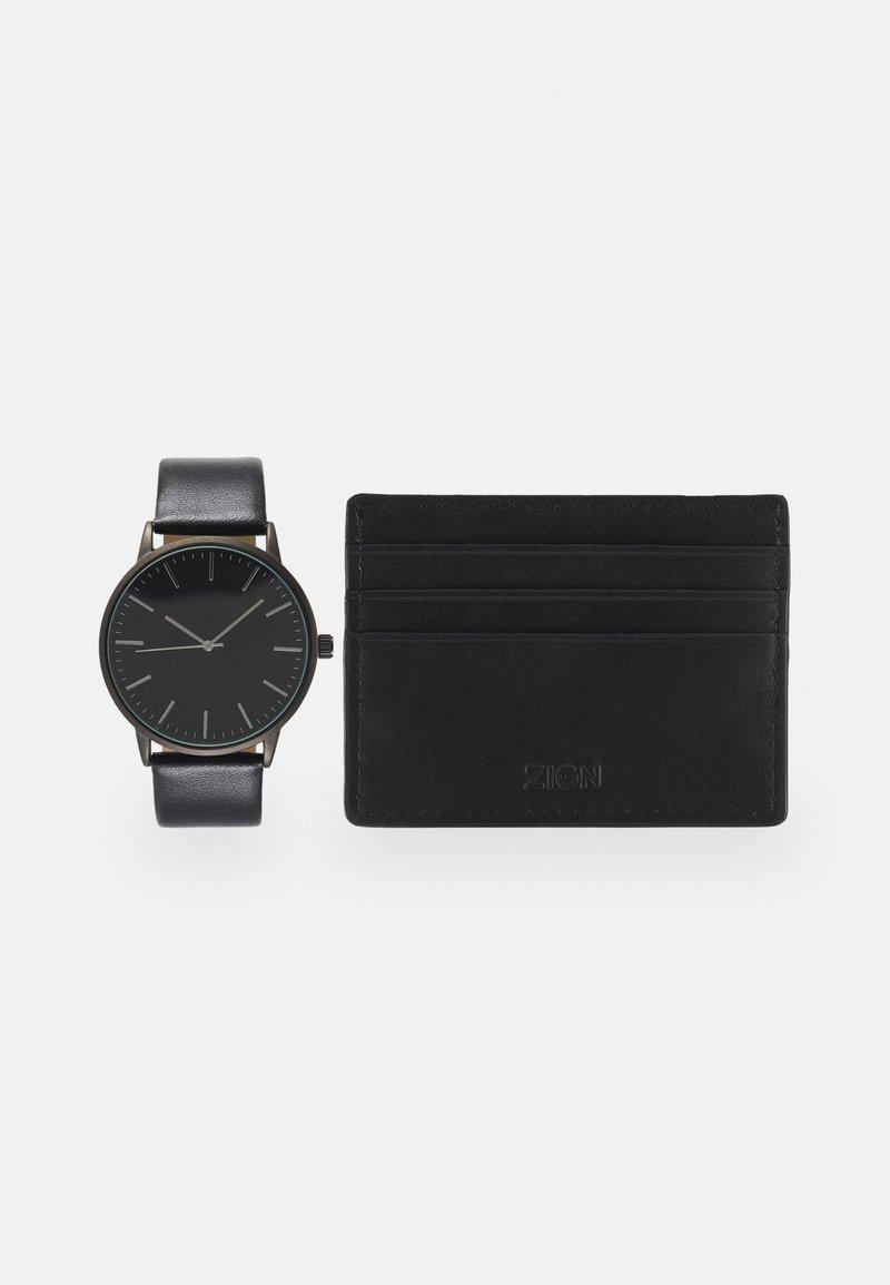 Zign - UHR CARD HOLDER /VISITENKARTENETUI GESCHENK SET /GIFT SET - Horloge - black