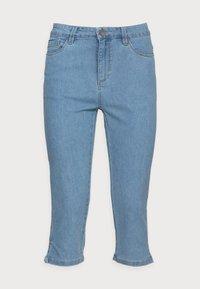 Kaffe - VICKY CAPRI JEANS - Denim shorts - light blue washed denim - 3