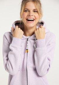 Schmuddelwedda - Zip-up sweatshirt - rauchlila melange - 3