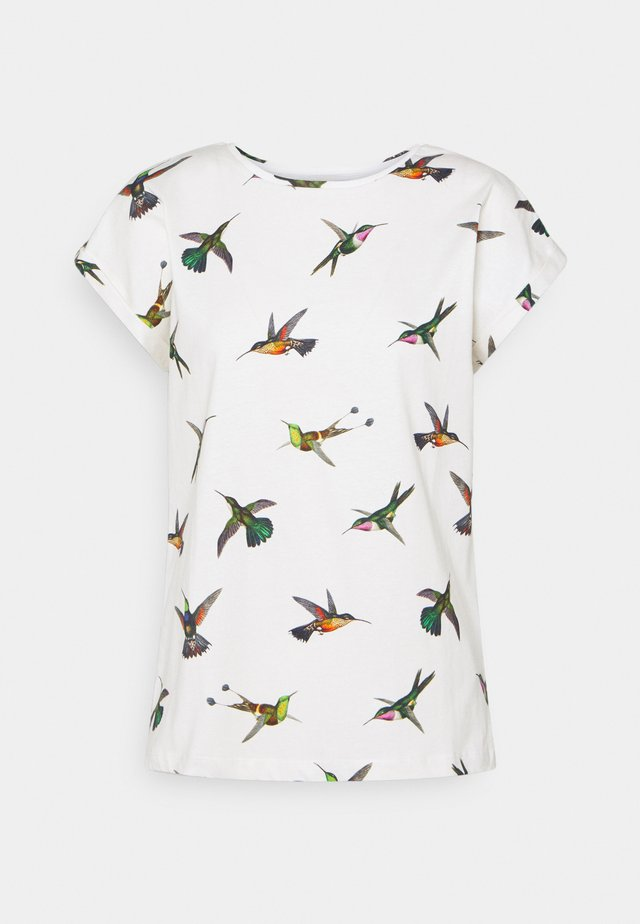 VISBY HUMMINGBIRDS - Triko s potiskem - off-white