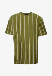 New Look - VERT STRIPE TEE - T-shirt print - light khaki - 4