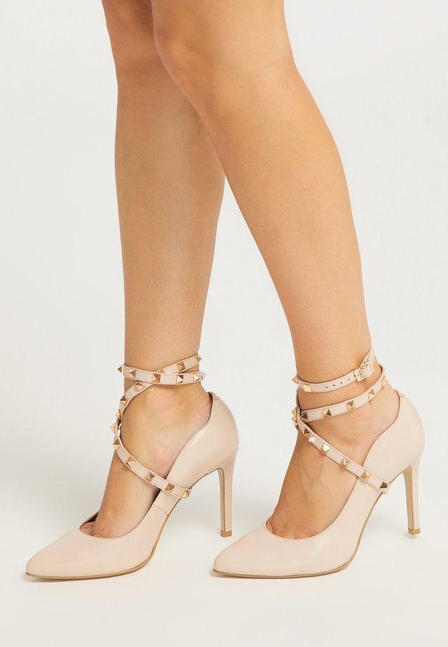 Zapatos altos - hellbeige