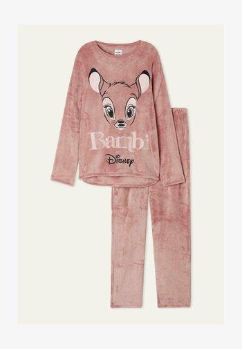 MIT DISNEY BAMBI PRINT SET - Pyjama set -  light brown bambi print
