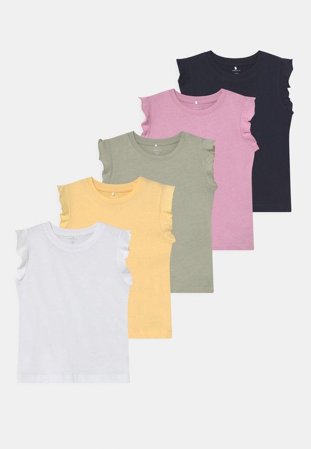 NBFSEDONNA 5 PACK - T-shirt print - sunlight