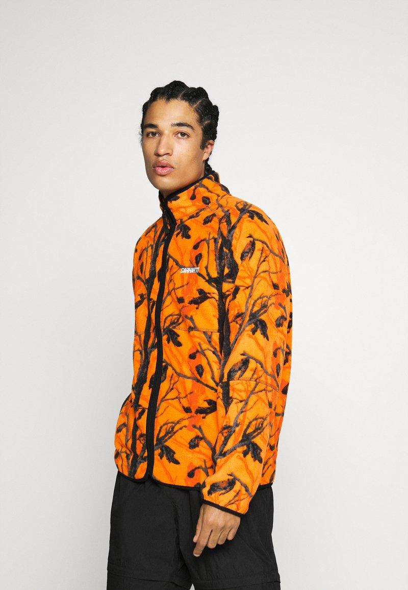 Carhartt WIP - BEAUFORT JACKET - Fleece jacket - orange/grey