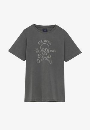 BONES TEE - T-shirt z nadrukiem - grey