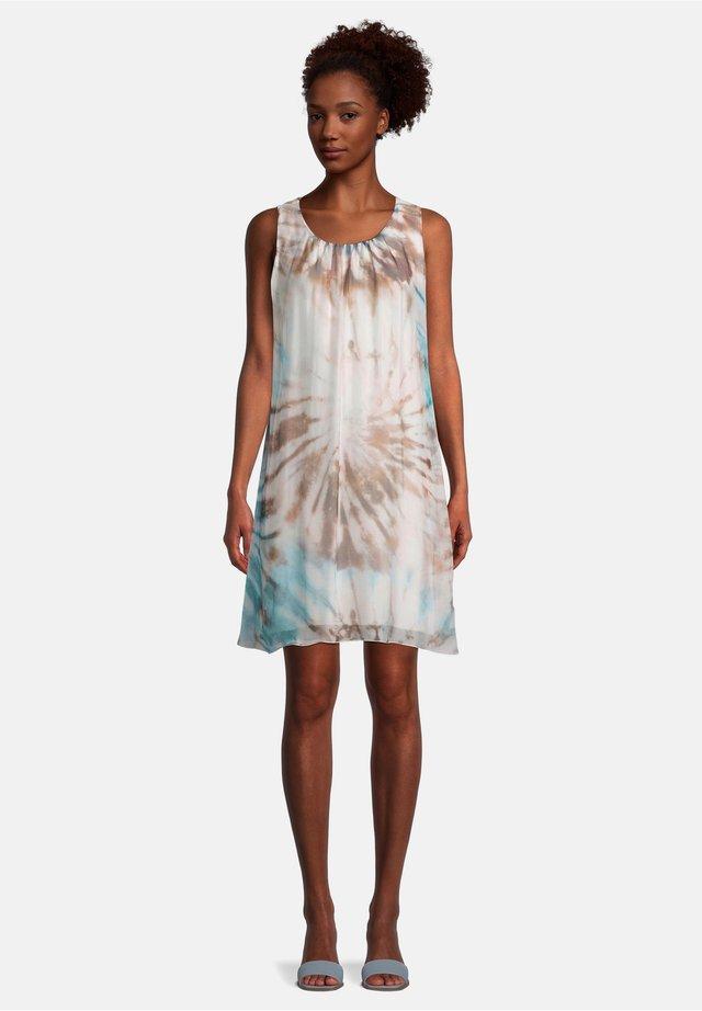 MIT PRINT - Korte jurk - blau/taupe
