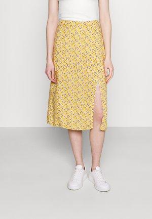 SLIP SKIRT - A-line skjørt - yellow floral