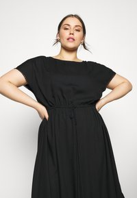 MY TRUE ME TOM TAILOR - DOBBY DRESS - Day dress - deep black - 3