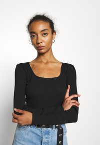 Monki - ALBA  - Longsleeve - black dark - 3