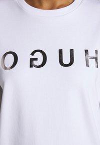 HUGO - NICCI - Top sdlouhým rukávem - white/silver - 6